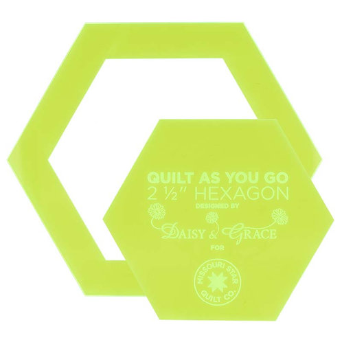 "Quilt As You Go 2 1/2"" Hexagon Template"