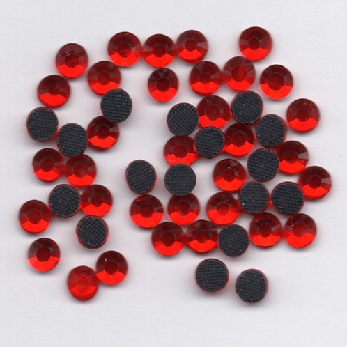 Hotfix Rhinestones 4mm - Light Siam Red - 60 Pieces