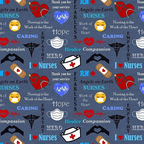 NHS Blue Hero Fabric