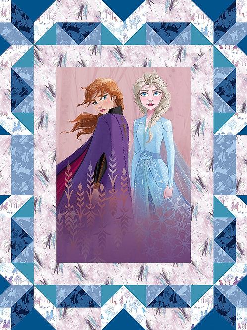 Disney Frozen 2 Faux Quilt Fabric Panel