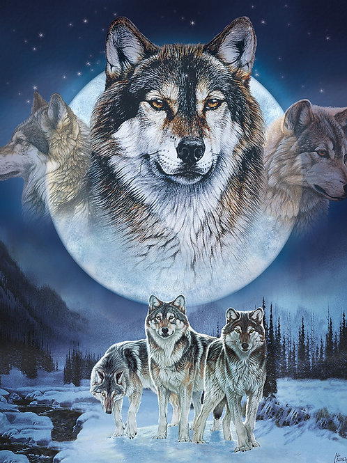 Natures Finest Wolf Fabric Panel