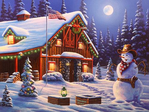 Cowboy Christmas Panel