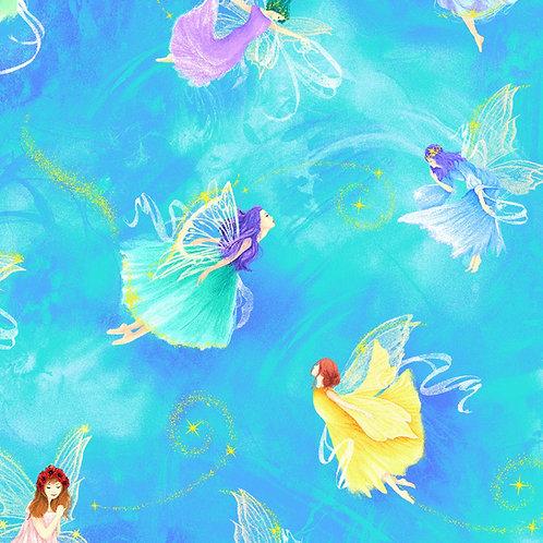 Fairy Fantasy Aqua Fairies Digitally Printed