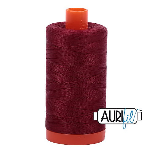 Aurifil 50 1300m 2460 Dark Carmine Red Cotton Thread
