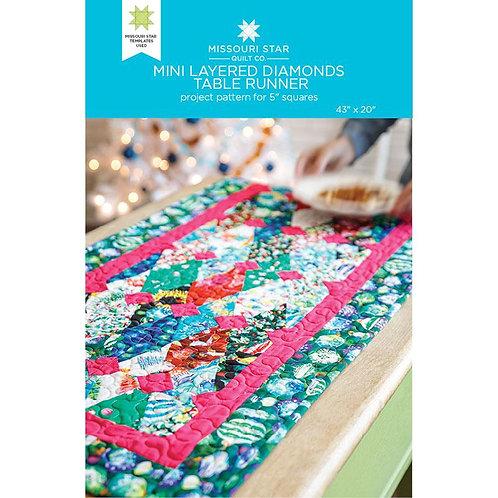 Missouri Star Mini  Layered Diamonds Table Runner Pattern