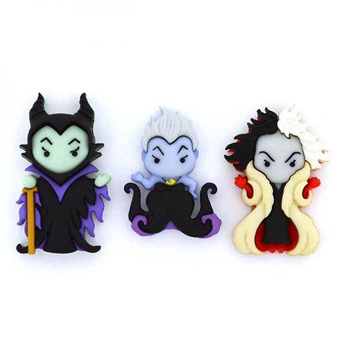 Disney's Ursula Cruella De Vil and Maleficent Embellishments