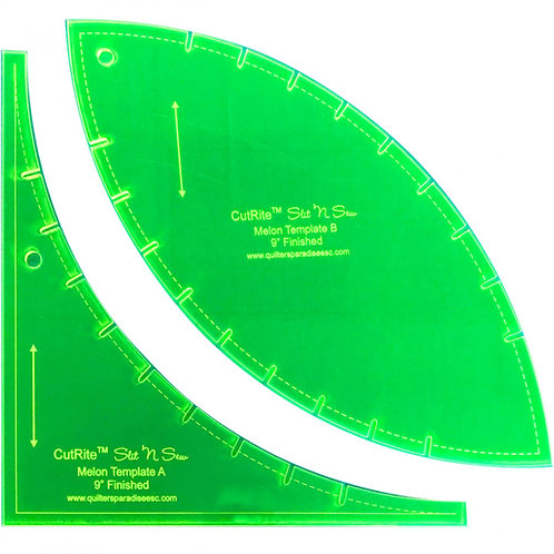 CutRite Slit N Sew Melon 9 Inch Finished Template