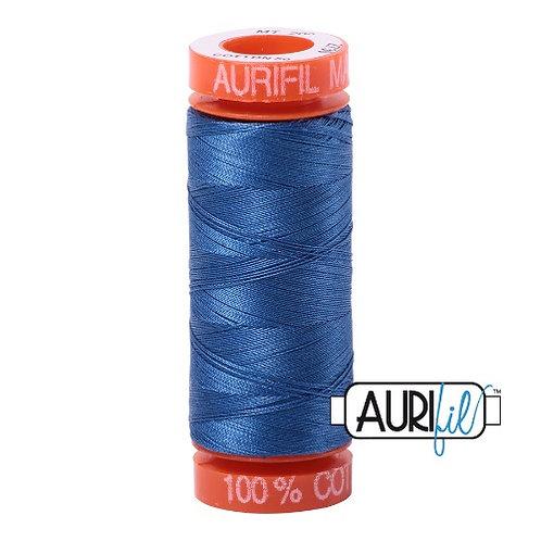 Aurifil 50 200m 2730 Cotton Thread Delft Blue