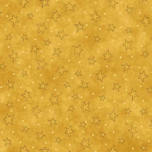 Gold Starry Fabric