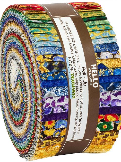 Robert Kaufman Gustav Klimt Blender Collection Roll Up with Metallic