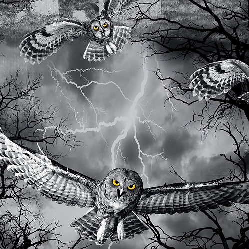 Night Owl Halloween Fabric