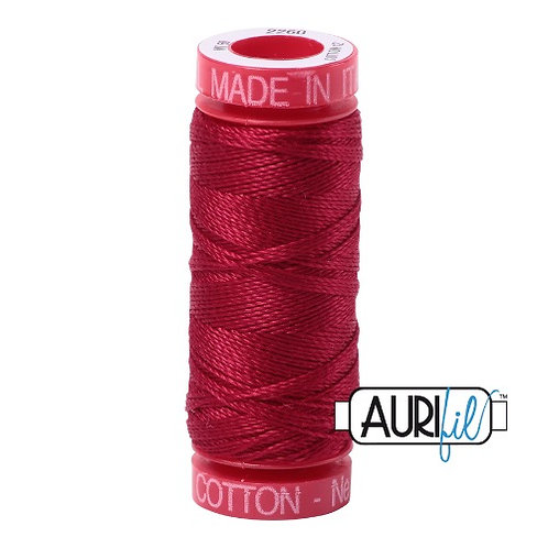 Aurifil 12 50m 2260 Red Wine Cotton Thread