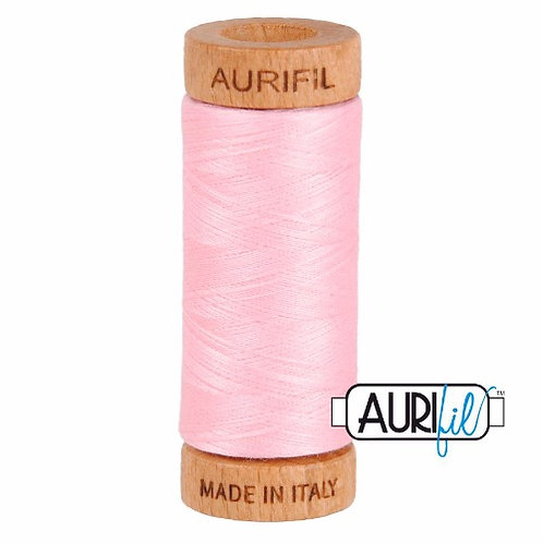 Aurifil 80 280m 2423 Baby Pink Cotton Thread