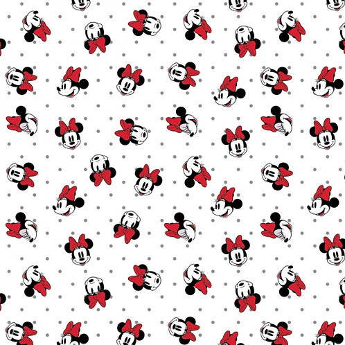 Disney Minnie Mouse Dreaming in Dots Fabric
