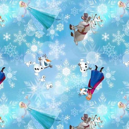Disney Frozen Blue Jersey Fabric