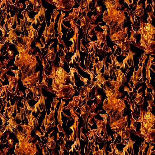 Black Fire Flames no.4 Fabric