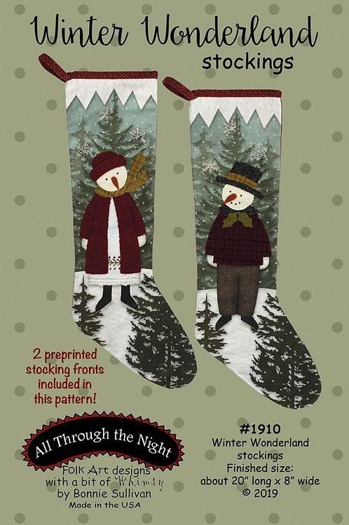 Winter Wonderland Stockings Pattern with Preprinted Panel