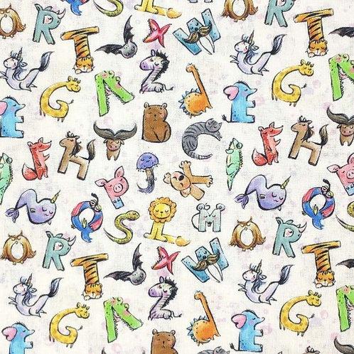 Animal Alphabet Fabric