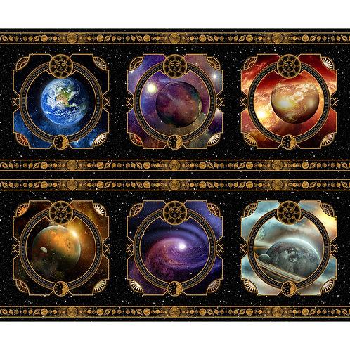 Cosmos Squares Fabric Panel