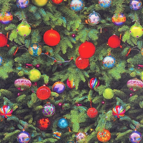 Christmas Baubles Fabric