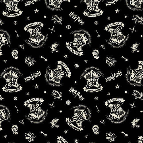 Harry Potter Black Assets Fabric