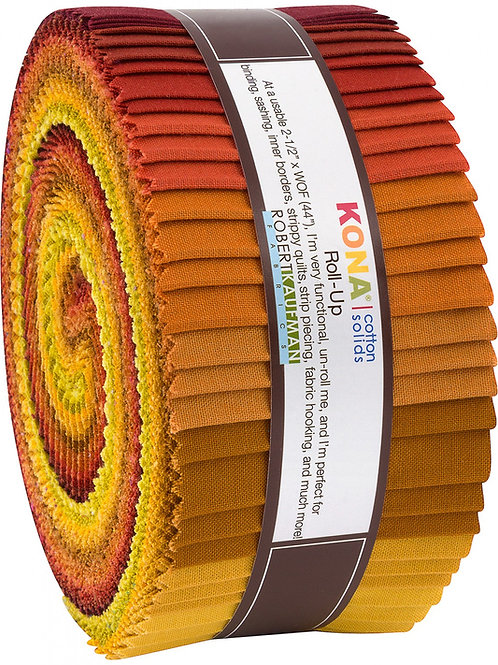 Robert Kaufman Autumn Hues Kona Solids Roll Up