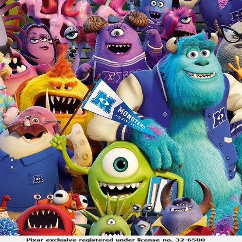 Disney Pixar Monsters Inc Jersey Fabric