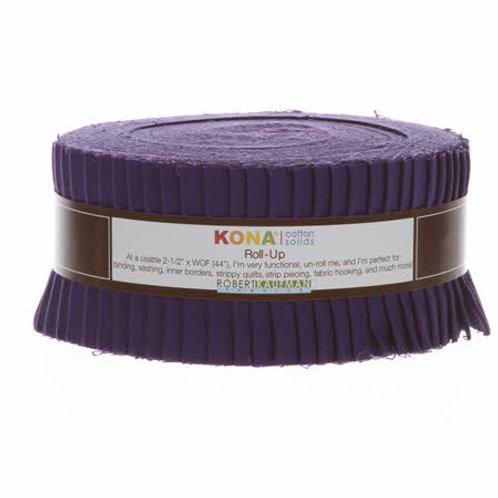 Robert Kaufman Purple Kona Solids Roll Up