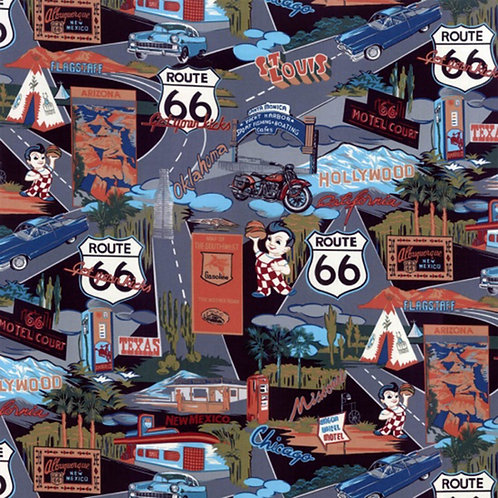 Route 66 Fabric