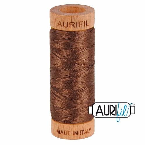 Aurifil 80 280m 1285 Medium Bark Cotton Thread