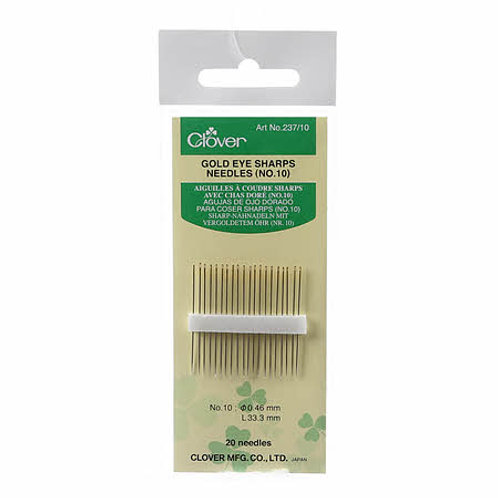 Clover Gold Eye Sharps Size 10
