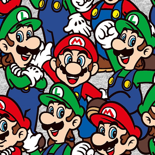 Nintendo Mario and Luigi Fabric