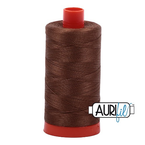 Aurifil 50 1300m 2372 Dark Antique Gold Cotton Thread