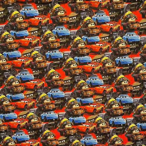 Packed Cars Fabric