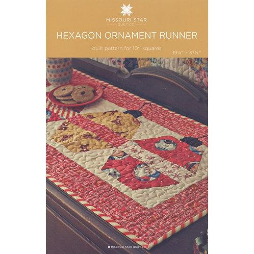 Missouri Star Hexagon Ornament Runner Pattern