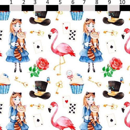Wonderland Flamingo Fabric