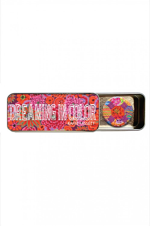 Kaffe Fassett Dreaming in Color Magnetic Needle Tin With Magnet