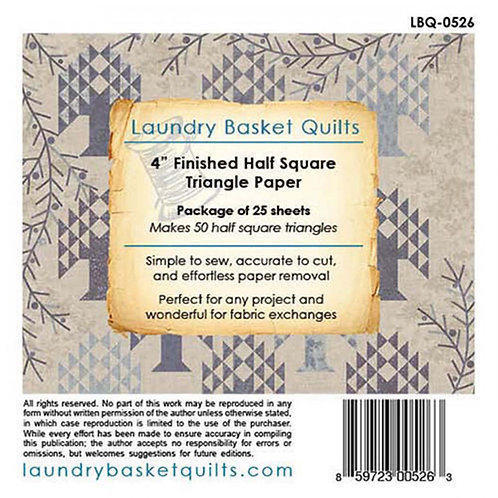 Laundry Basket Quilts Half Square Triangle Paper 4in .0528