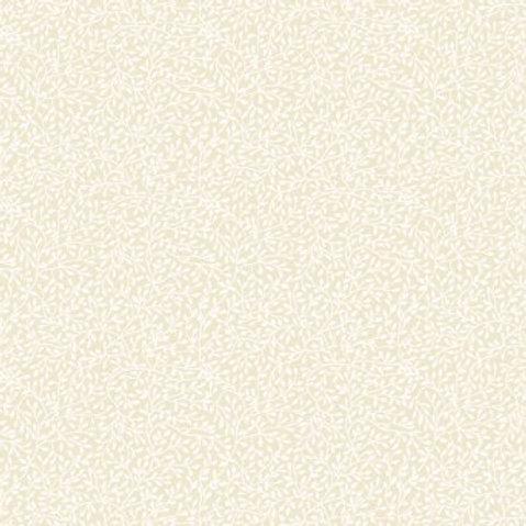 Makower Mini Leaf White on Cream Fabric 764/Q2