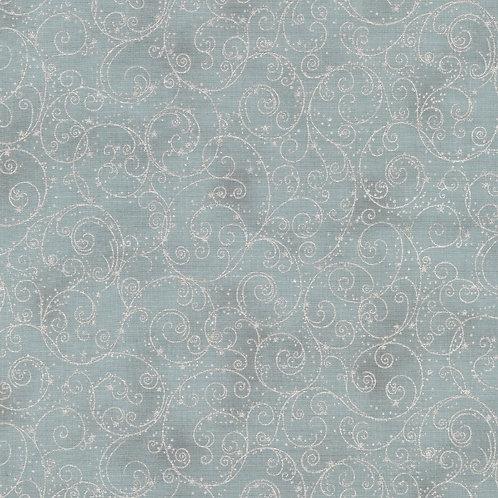 Holiday Flourish 14 Fine Swirls Shadow with metallic Fabric