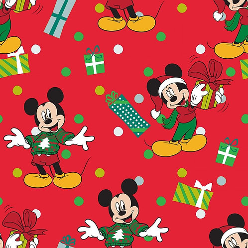 Disney Mickey Mouse Christmas For Me Fabric