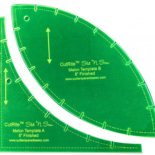 CutRite Slit N Sew Melon 8 Inch Finished Template