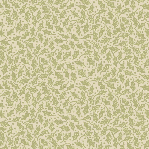 Anni Downs All For Christmas Cream Holly Fabric