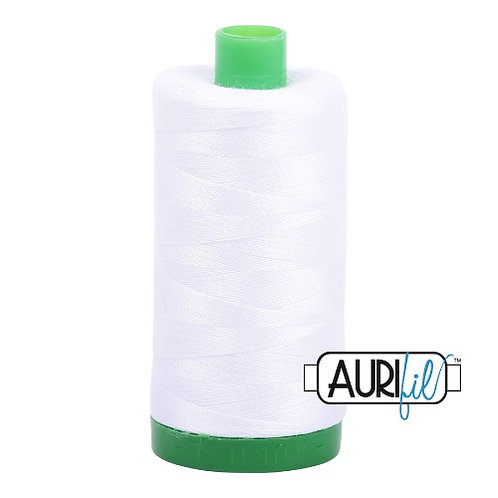Aurifil 40 1000m 2024 White Cotton Thread