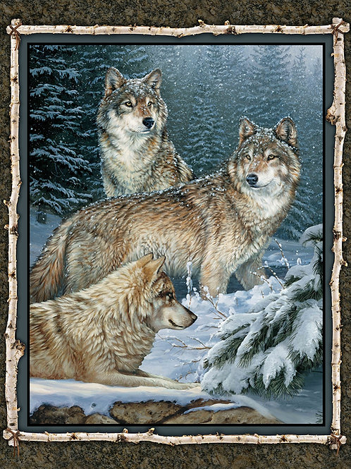 Wild Things Contemplation Wolves Panel