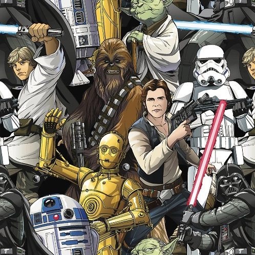 Jersey - Star Wars Characters Fabric