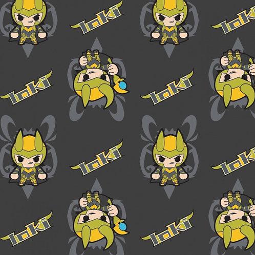 Marvel Kawaii Mini Loki Fabric
