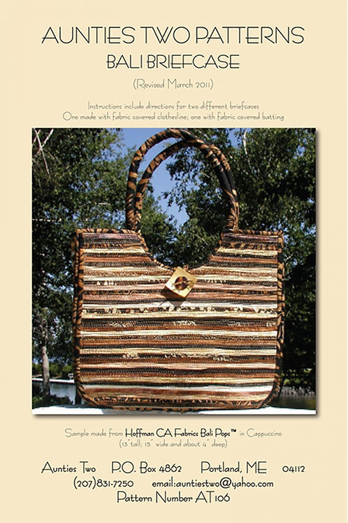 Aunties Two Bali Briefcase Bag Pattern