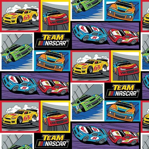 Nascar Racing Blocks Fabric