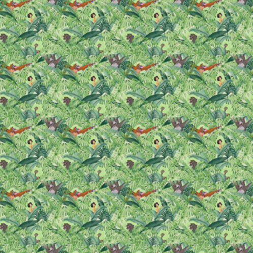 Disney Jungle Book Baloo and Mowgli Fabric